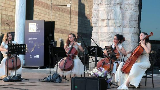 Cello Paradiso, Tekfur Sarayı Müzesi avlusunda müzikseverlerle buluştu